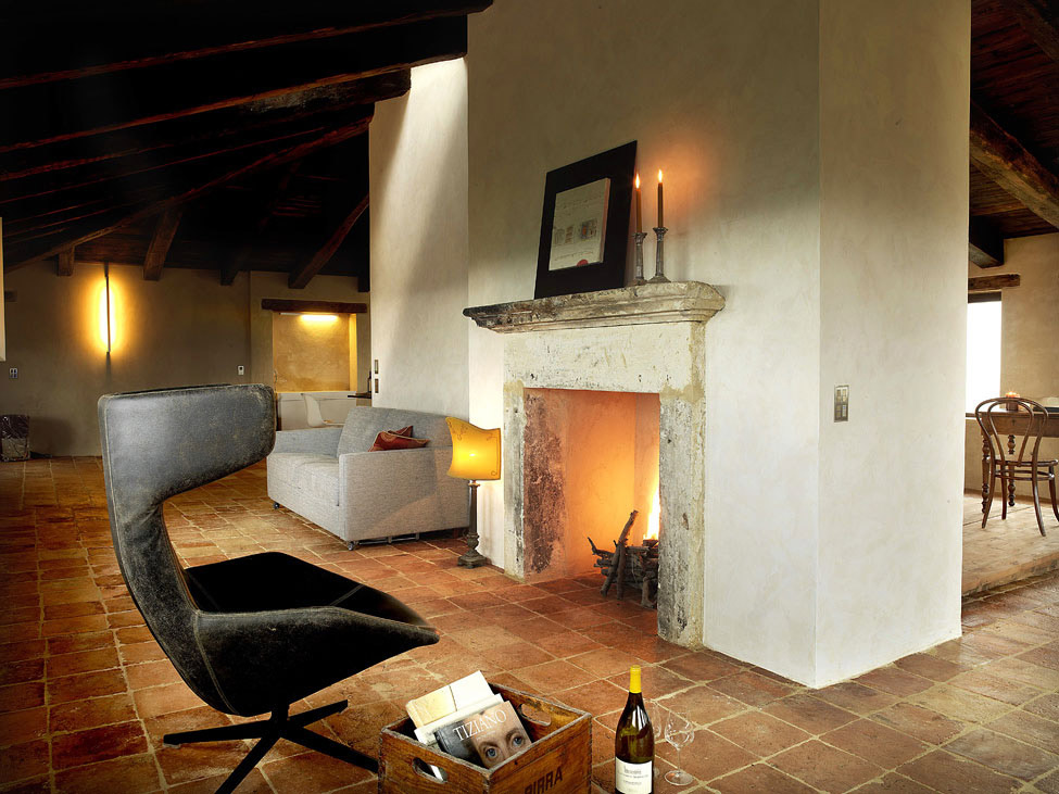 Living Space, Fireplace, Lighting, Castello di Semivicoli Hotel in Casacanditella, Italy