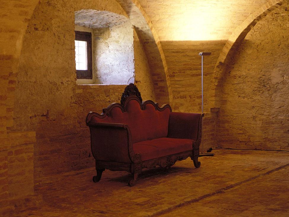 Stone Walls, Sofa, Castello di Semivicoli Hotel in Casacanditella, Italy