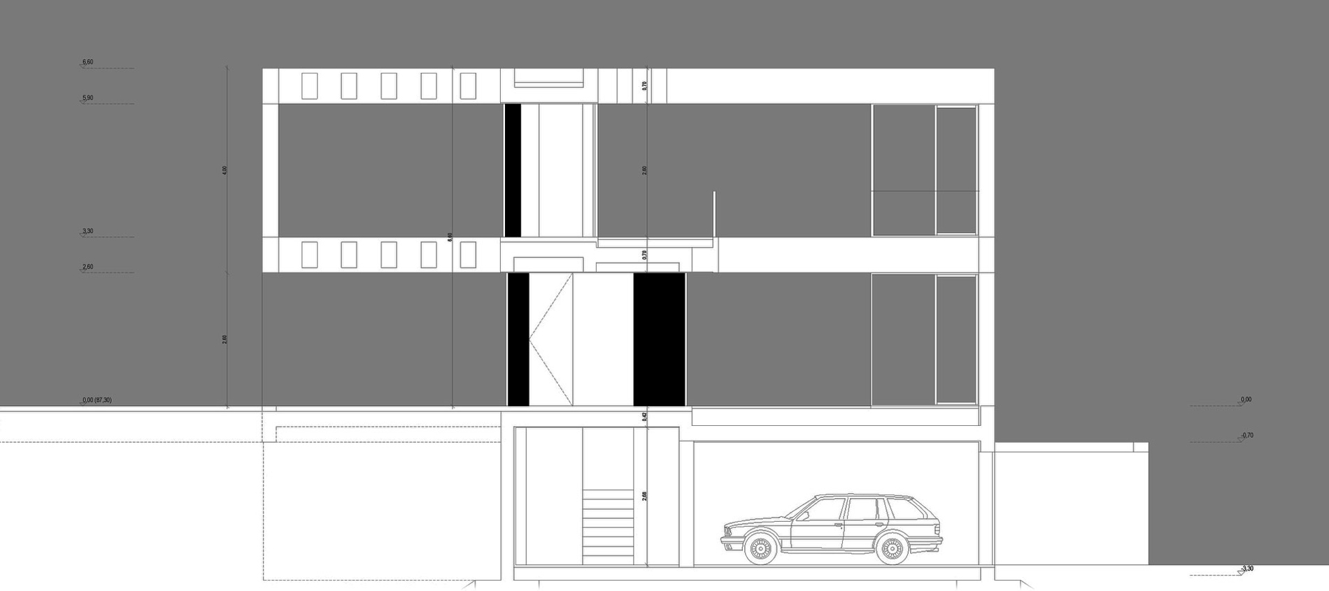 Elevation, C+P House in Lisbon, Portugal by Gonçalo das Neves Nunes