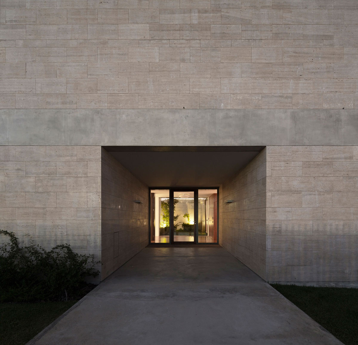 Entrance, Glass Door, Concrete Flooring, C+P House in Lisbon, Portugal by Gonçalo das Neves Nunes
