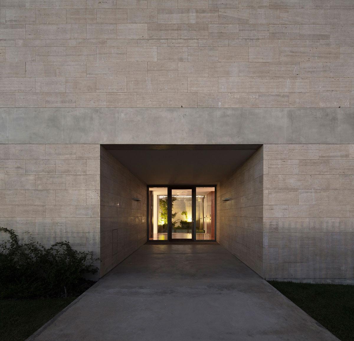 Entrance, Glass Door, Concrete Flooring, C+P House in Lisbon, Portugal by Gonçalo das Neves Nunes