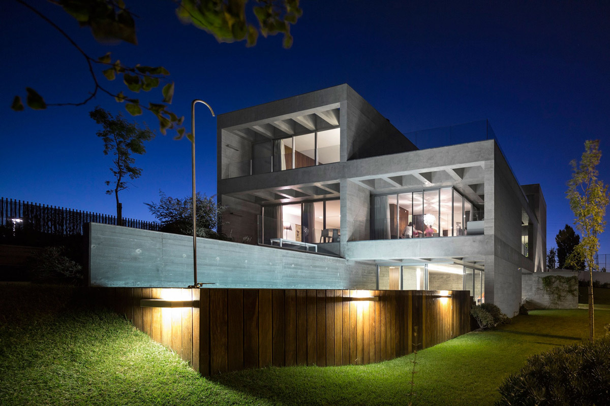 Garden, Lighting, C+P House in Lisbon, Portugal by Gonçalo das Neves Nunes