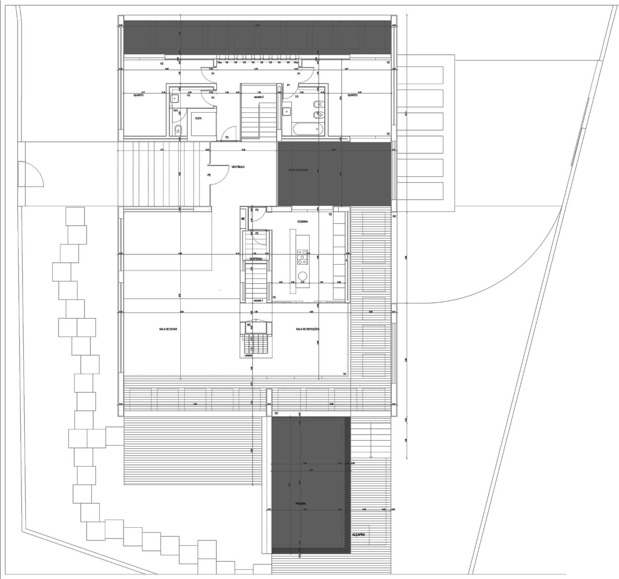 Ground Floor Plan, C+P House in Lisbon, Portugal by Gonçalo das Neves Nunes