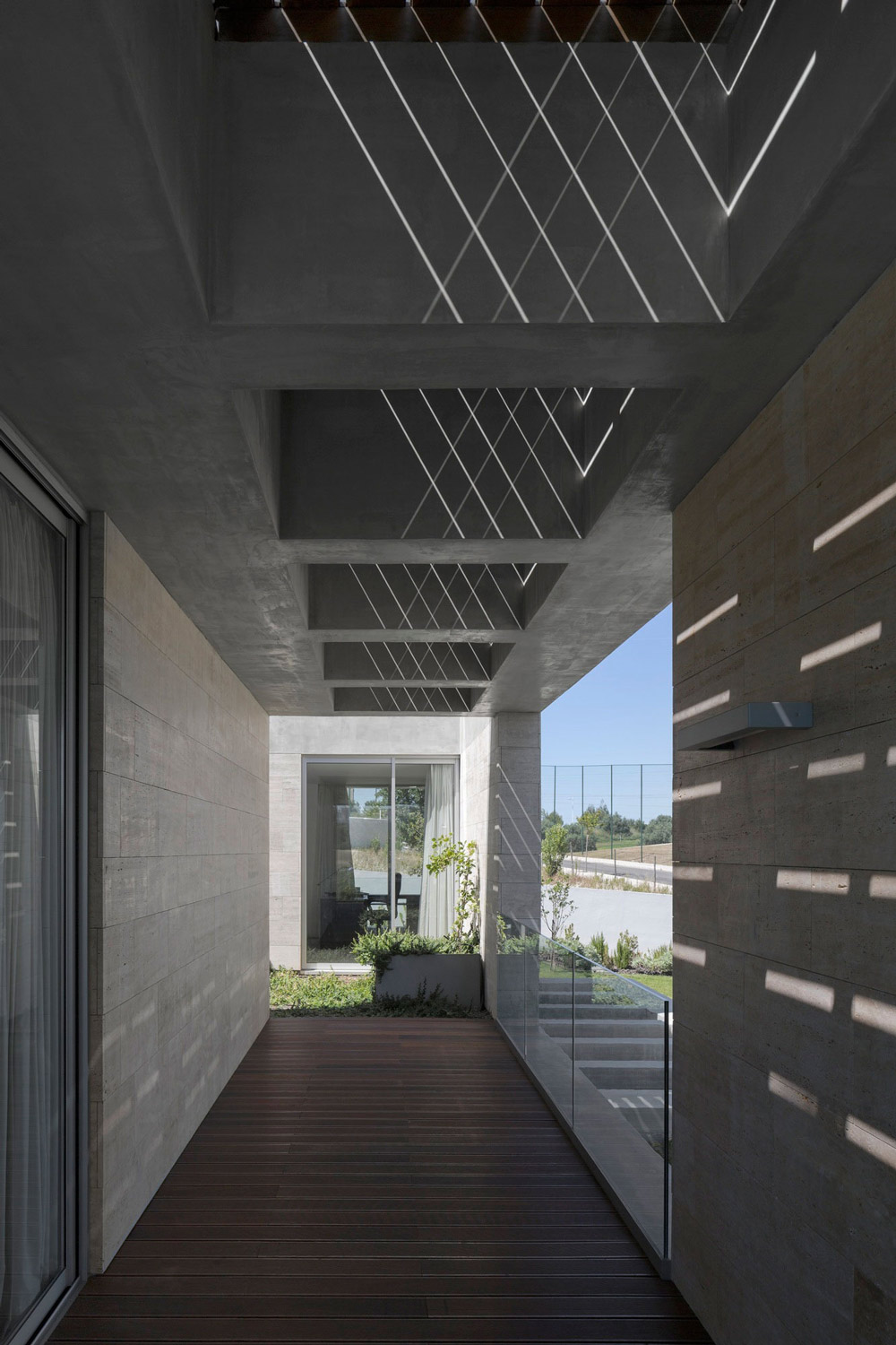 Patio, Wood Flooring, C+P House in Lisbon, Portugal by Gonçalo das Neves Nunes