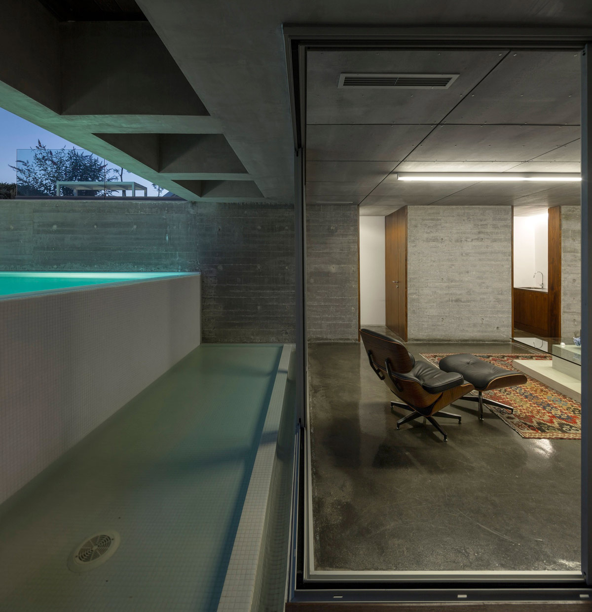 Pool, Patio Doors, Living Space, C+P House in Lisbon, Portugal by Gonçalo das Neves Nunes
