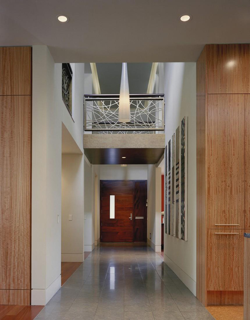 Front Door, Hallway, Edgemoor Residence in Maryland by David Jameson Architect