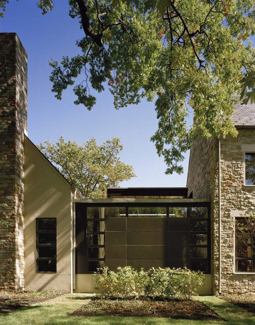 Garden, Edgemoor Residence in Maryland by David Jameson Architect