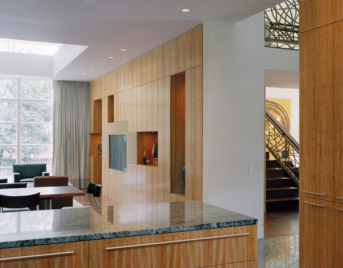 Marble Counter, Edgemoor Residence in Maryland by David Jameson Architect