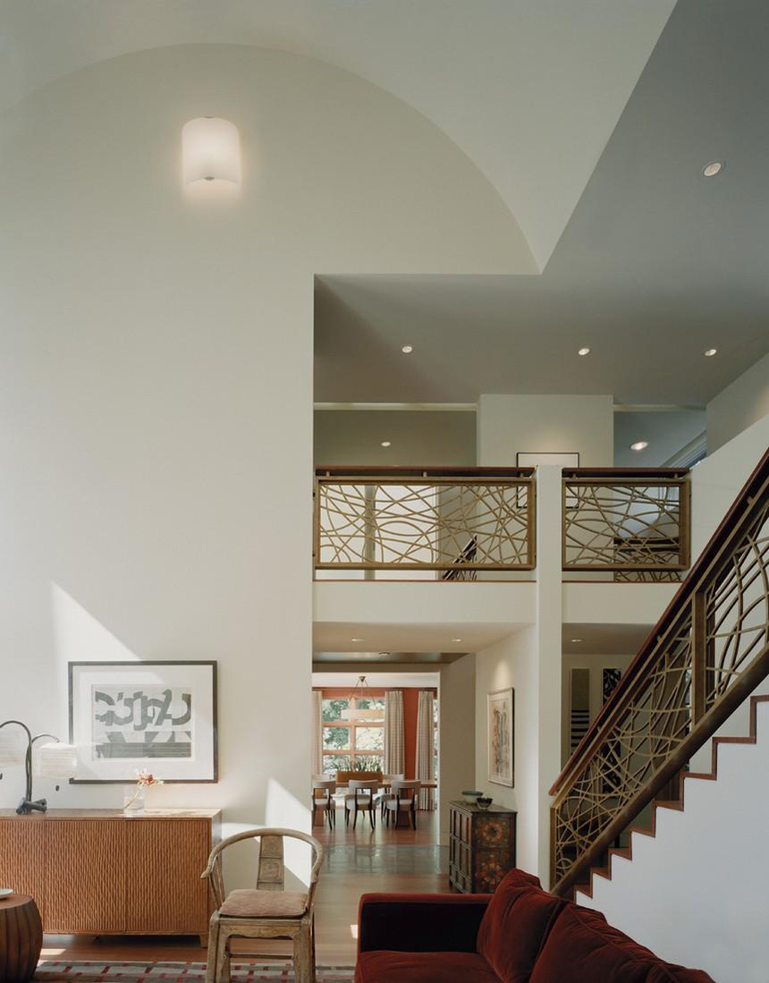 Staircase, Edgemoor Residence in Maryland by David Jameson Architect