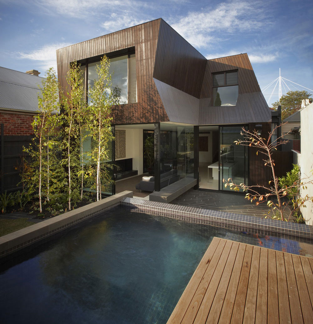 Deck, Pool, Terrace, Enclave House in Melbourne, Australia by BKK Architects