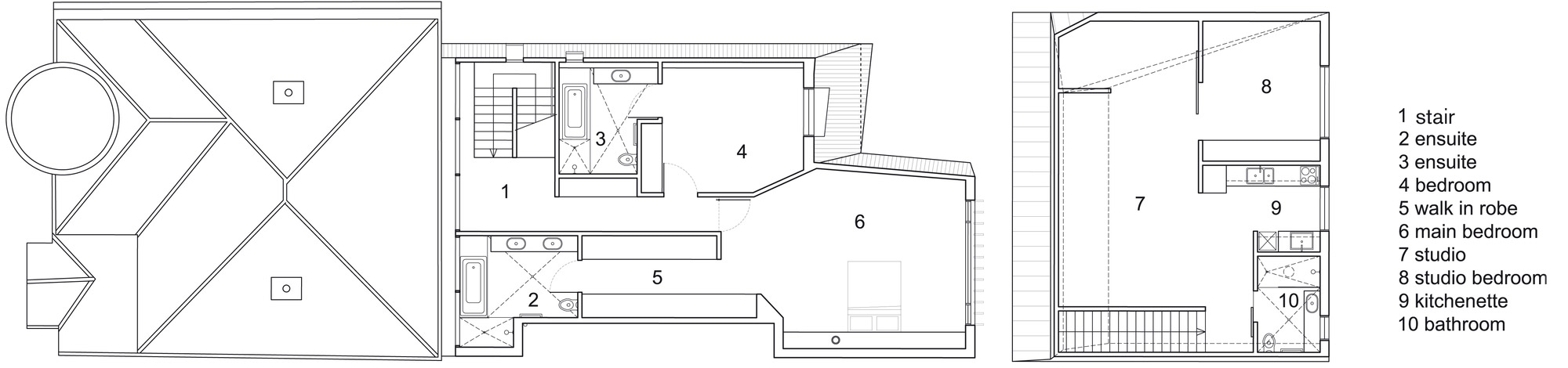 First Floor Plan, Enclave House in Melbourne, Australia by BKK Architects