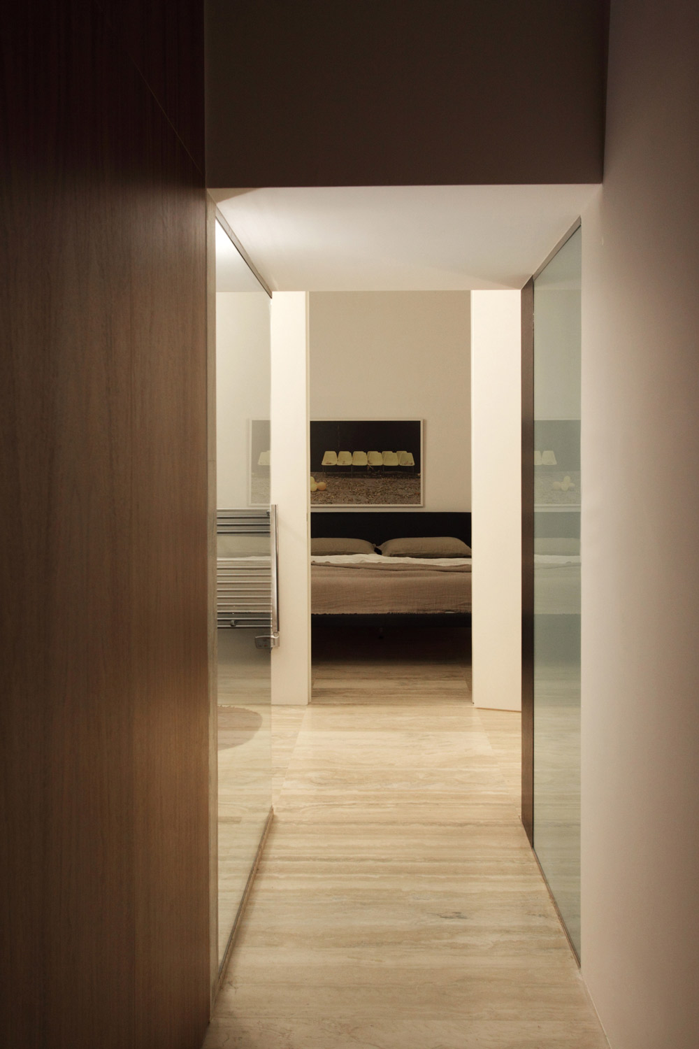 Bedroom, Hallway, Hanging Home in Naxxar, Malta by Chris Briffa Architects