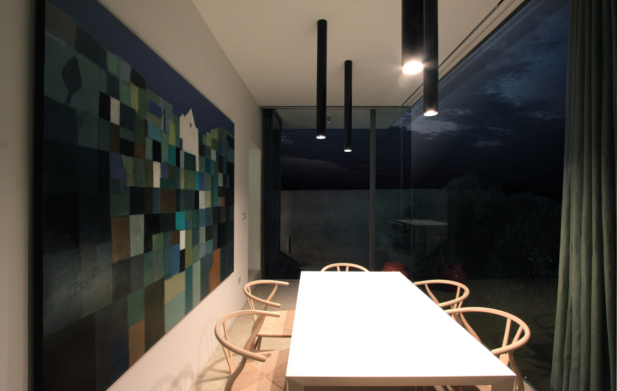 Dining Space, Art, Hanging Home in Naxxar, Malta by Chris Briffa Architects