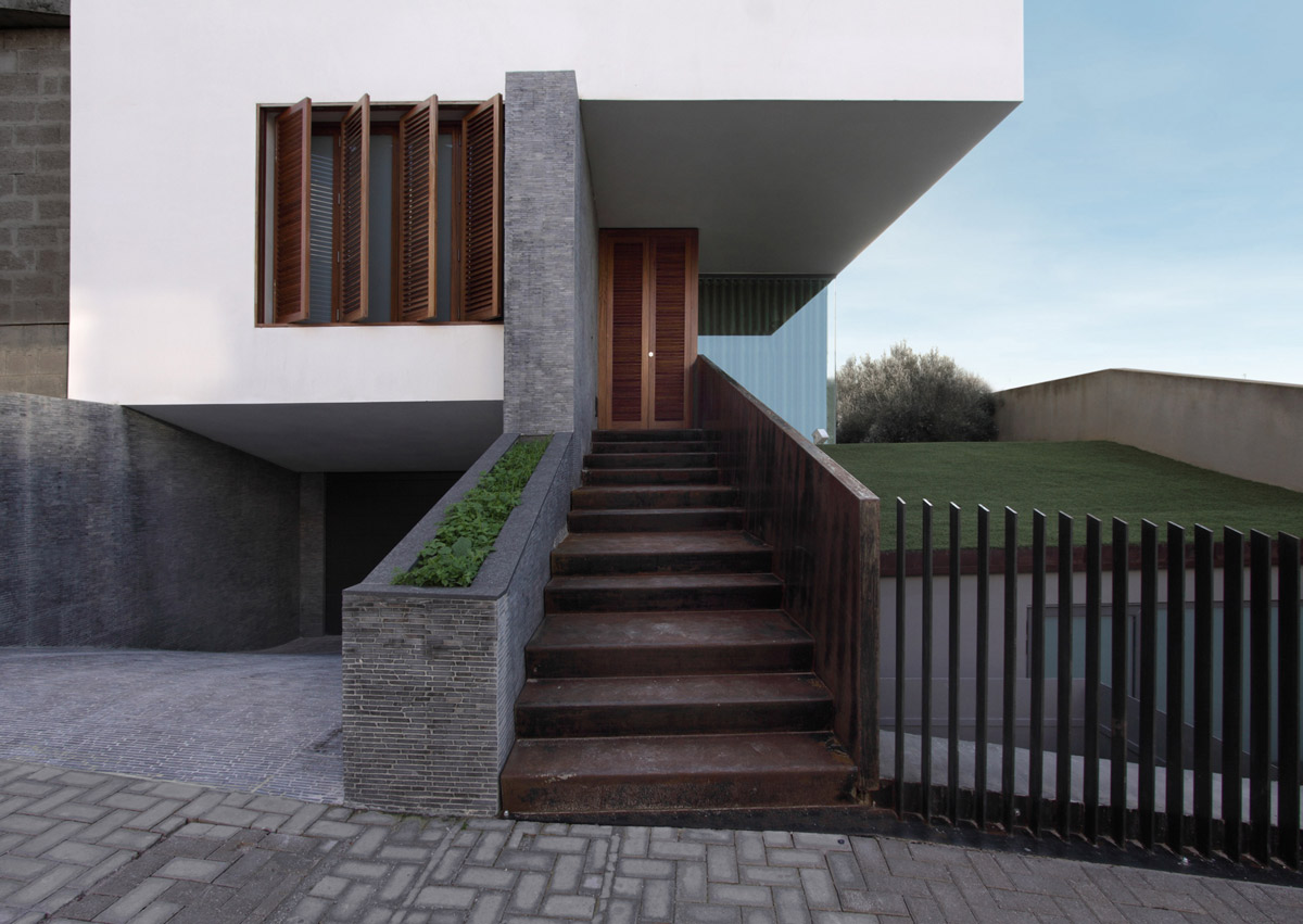 Front Door, Fence, Hanging Home in Naxxar, Malta by Chris Briffa Architects