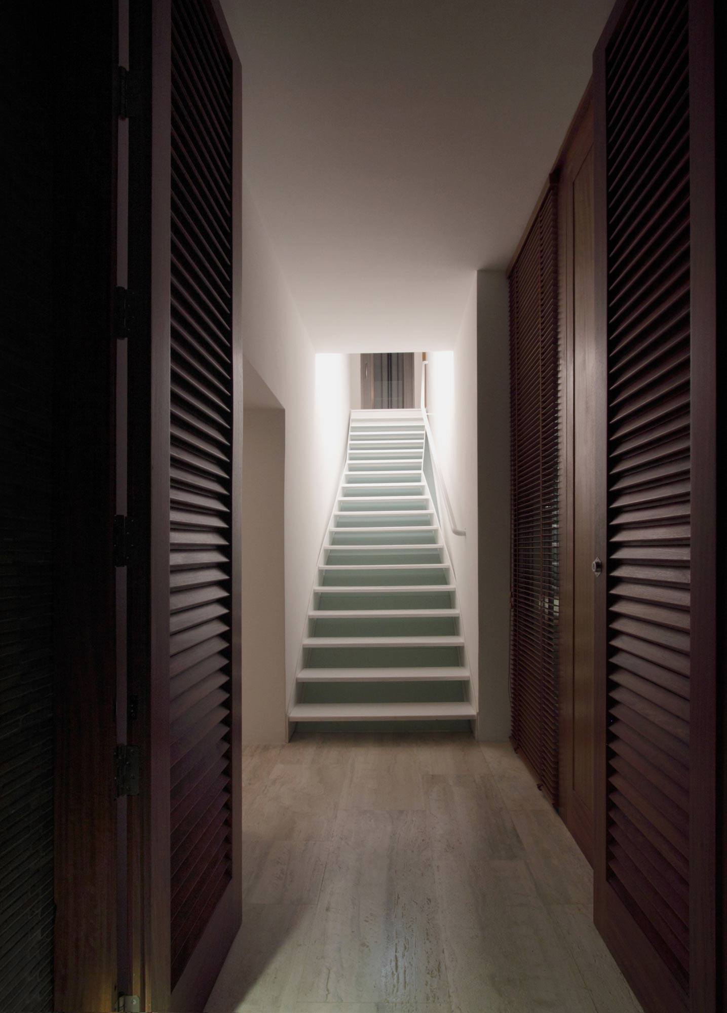 Hallway, Stairs, Hanging Home in Naxxar, Malta by Chris Briffa Architects