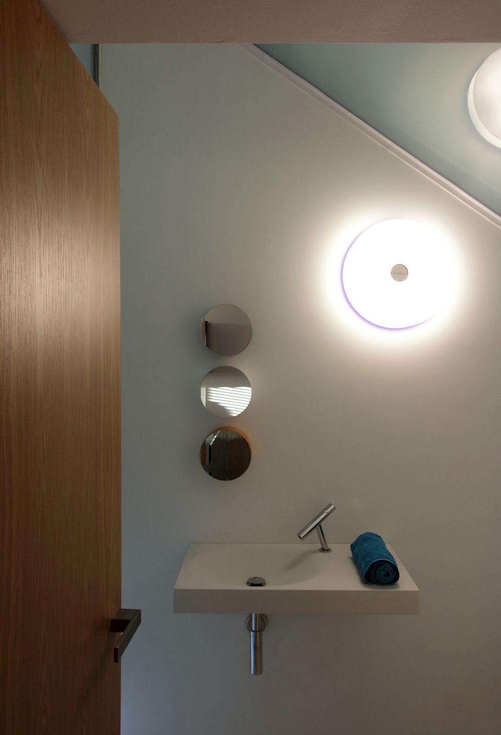 Sink, Lighting, Hanging Home in Naxxar, Malta by Chris Briffa Architects