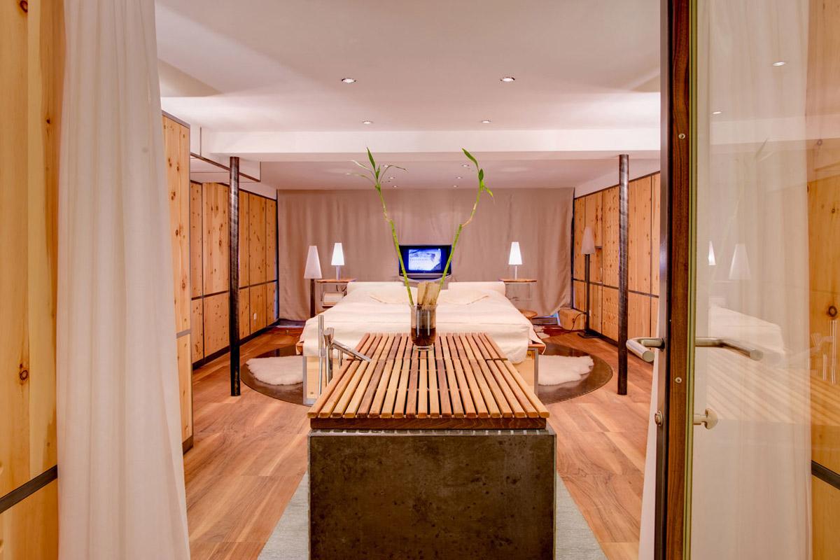 Bedroom, Bathroom, Heinz Julen Loft in Zermatt, Switzerland