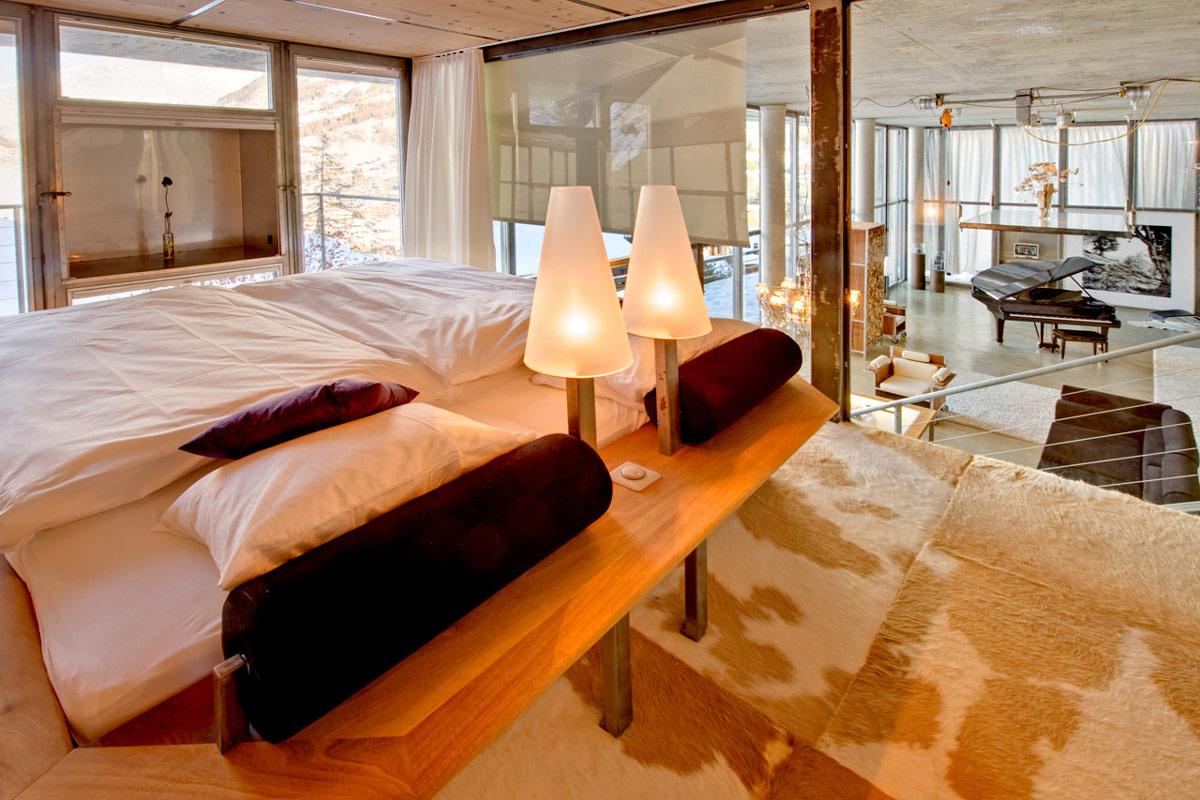 Bedroom, Mezzanine, Heinz Julen Loft in Zermatt, Switzerland