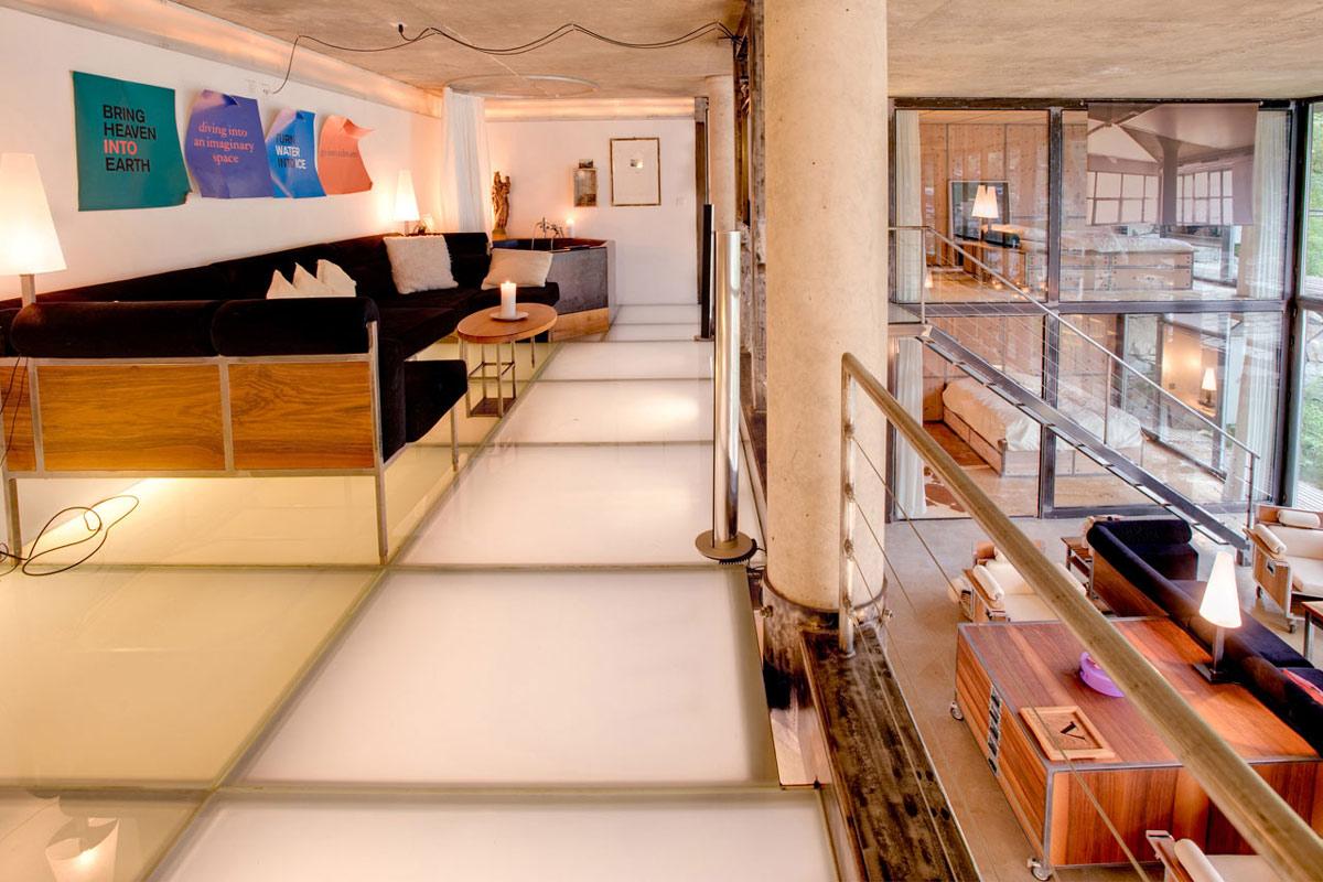Mezzanine, Sofa, Heinz Julen Loft in Zermatt, Switzerland