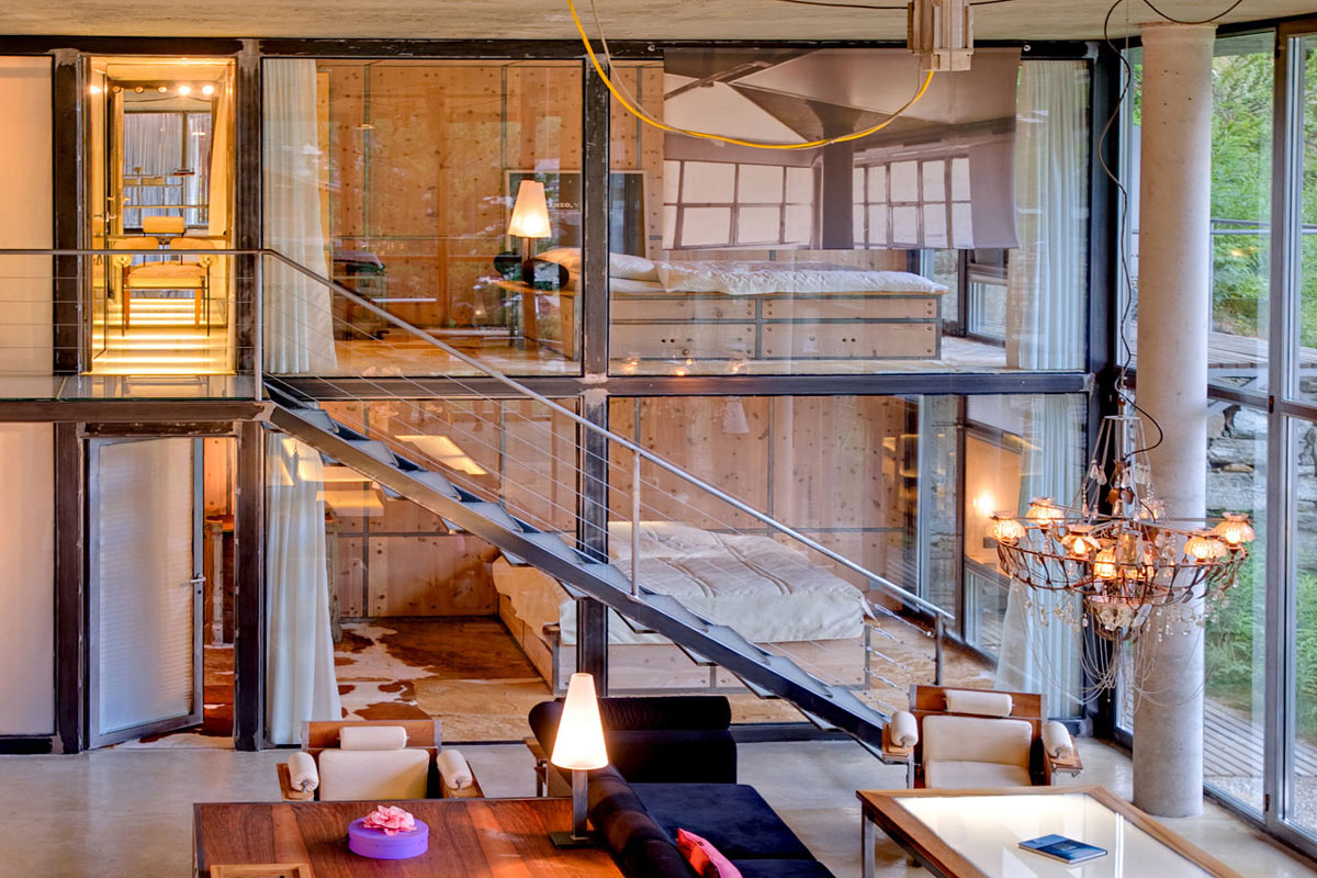 Stairs, Living Space, Heinz Julen Loft in Zermatt, Switzerland