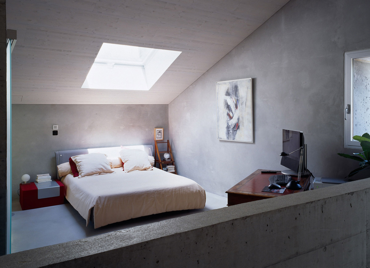 Bedroom, Home Office, Renovation in Chamoson, Switzerland by Savioz Fabrizzi Architecte