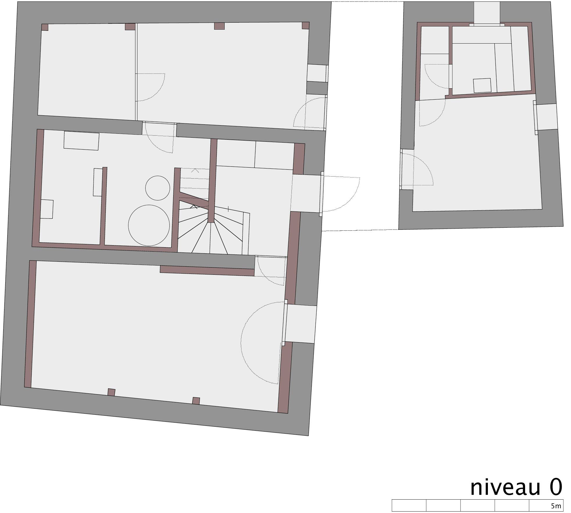 Ground Floor Plan, Renovation in Chamoson, Switzerland by Savioz Fabrizzi Architecte