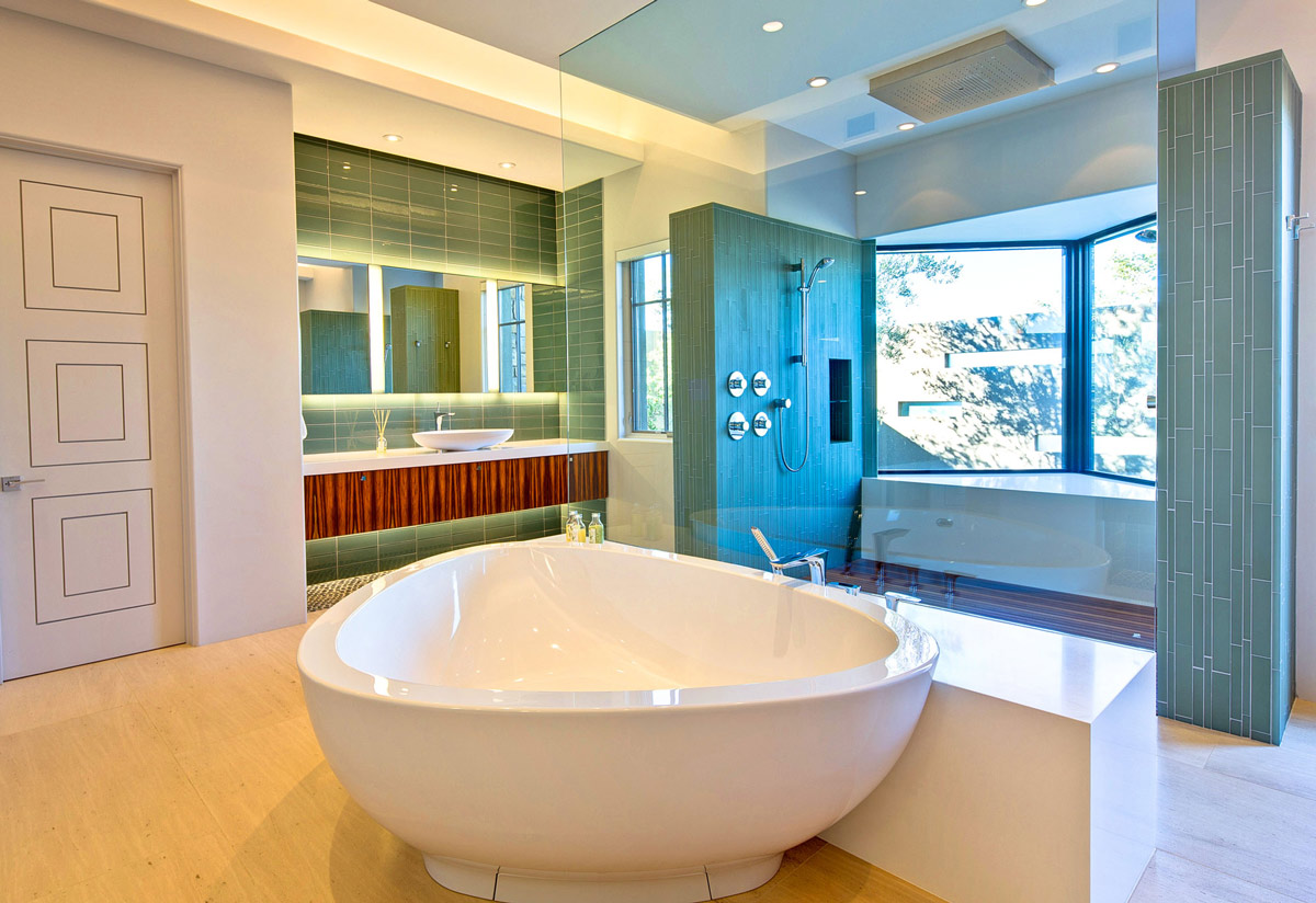 Bath, Glass Shower, Ironwood Estate in Paradise Valley, Arizona by Kendle Design Collaborative
