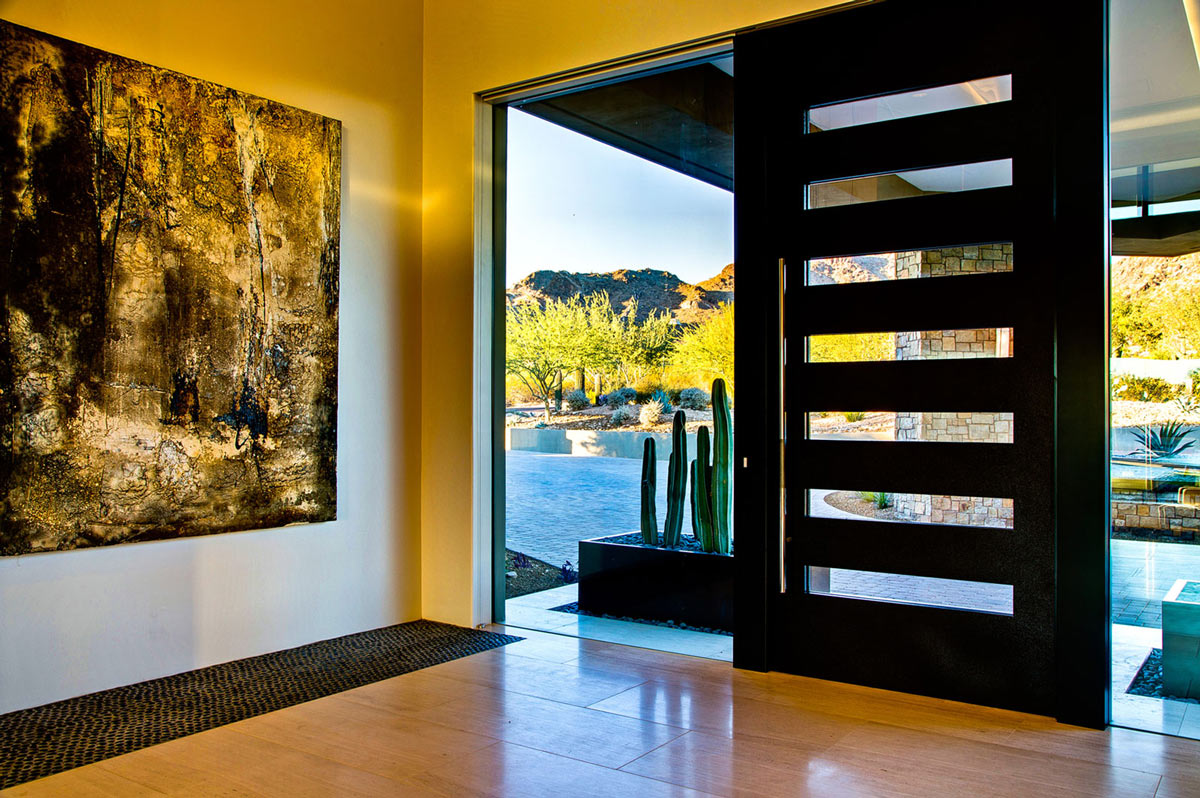 Front Door, Art, Ironwood Estate in Paradise Valley, Arizona by Kendle Design Collaborative