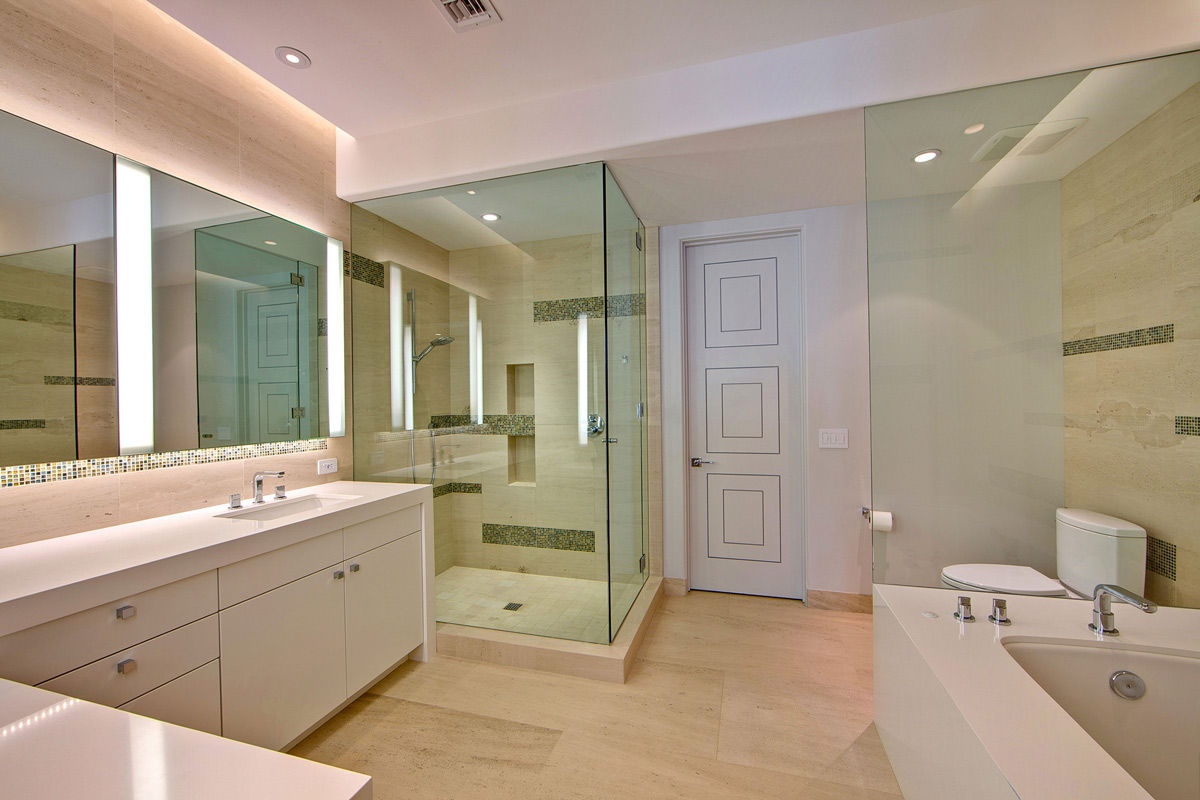 Glass Shower, Bathroom, Ironwood Estate in Paradise Valley, Arizona by Kendle Design Collaborative