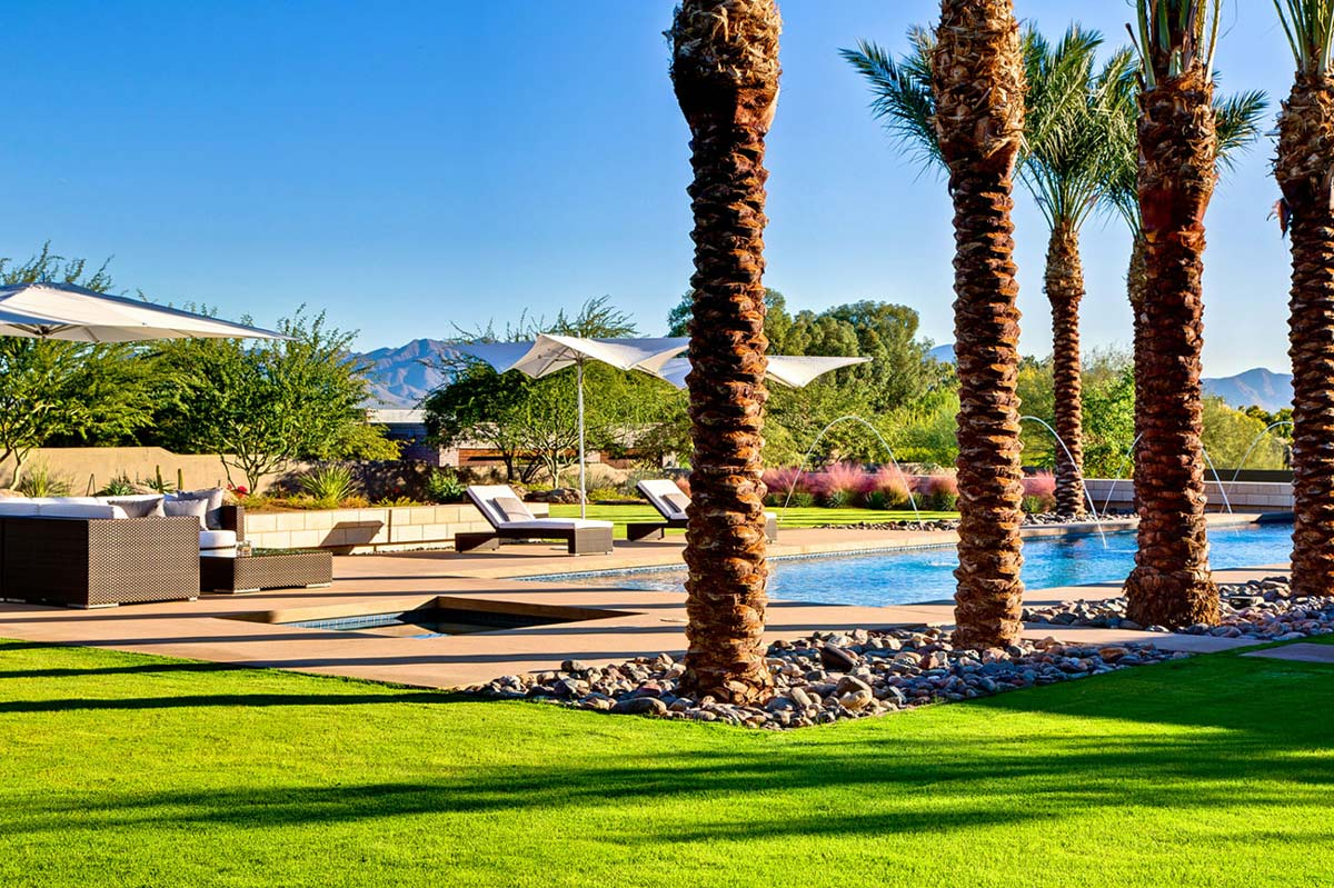 Jacuzzi, Outdoor Furniture, Pool, Ironwood Estate in Paradise Valley, Arizona by Kendle Design Collaborative