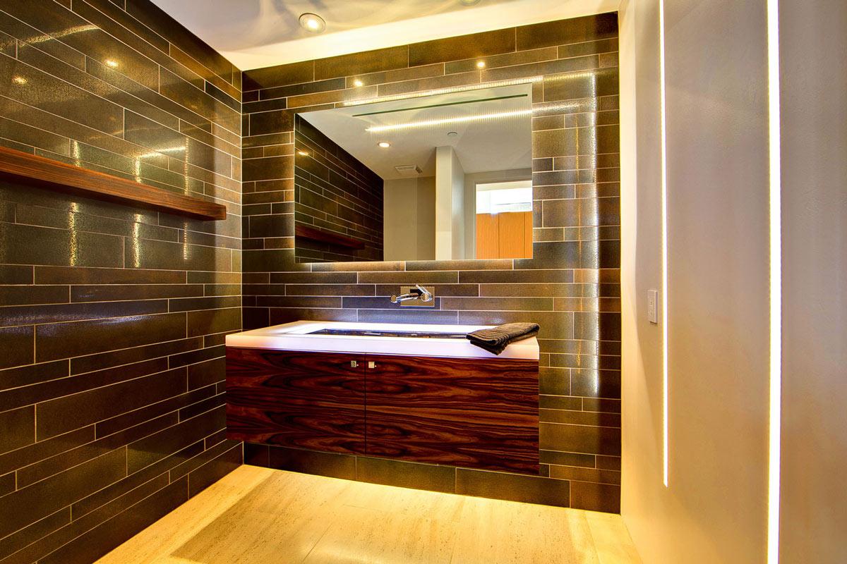 LED Sink, Ironwood Estate in Paradise Valley, Arizona by Kendle Design Collaborative