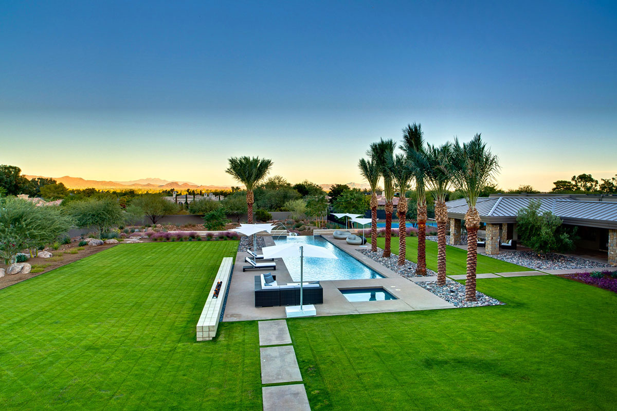 Pool, Terrace, Ironwood Estate in Paradise Valley, Arizona by Kendle Design Collaborative