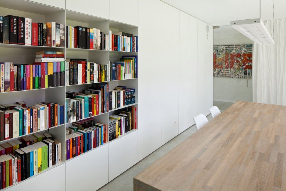 Dining Table, Bookshelf, VMVK House in Sint-Katelijne-Waver, Belgium by dmvA