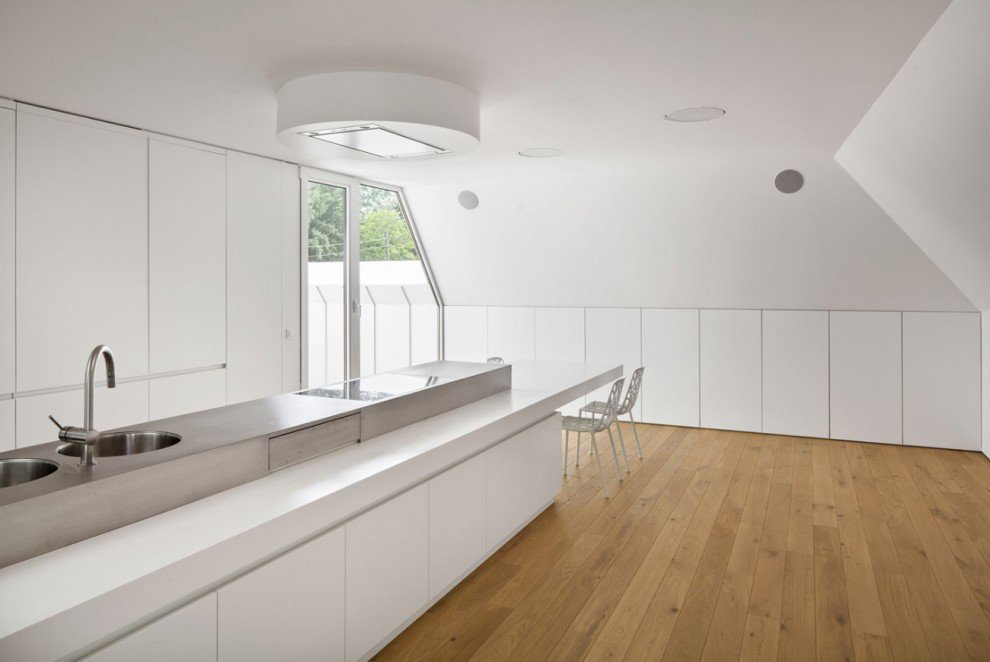 Kitchen, VMVK House in Sint-Katelijne-Waver, Belgium by dmvA
