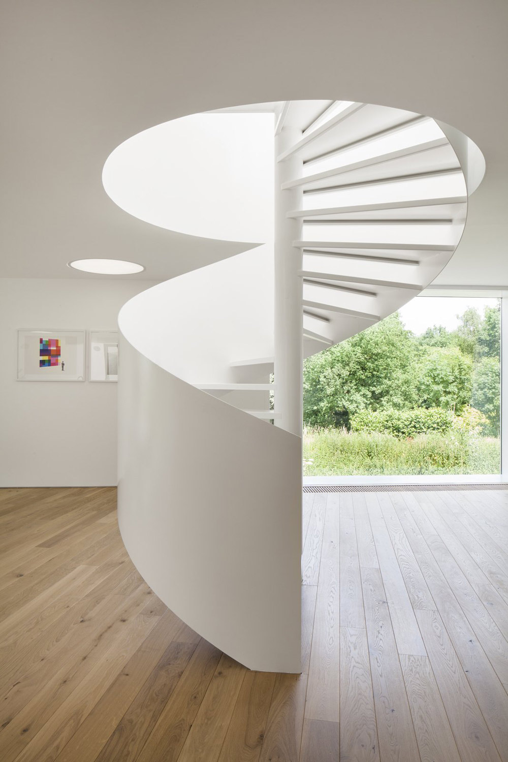 Spiral Stairs, VMVK House in Sint-Katelijne-Waver, Belgium by dmvA