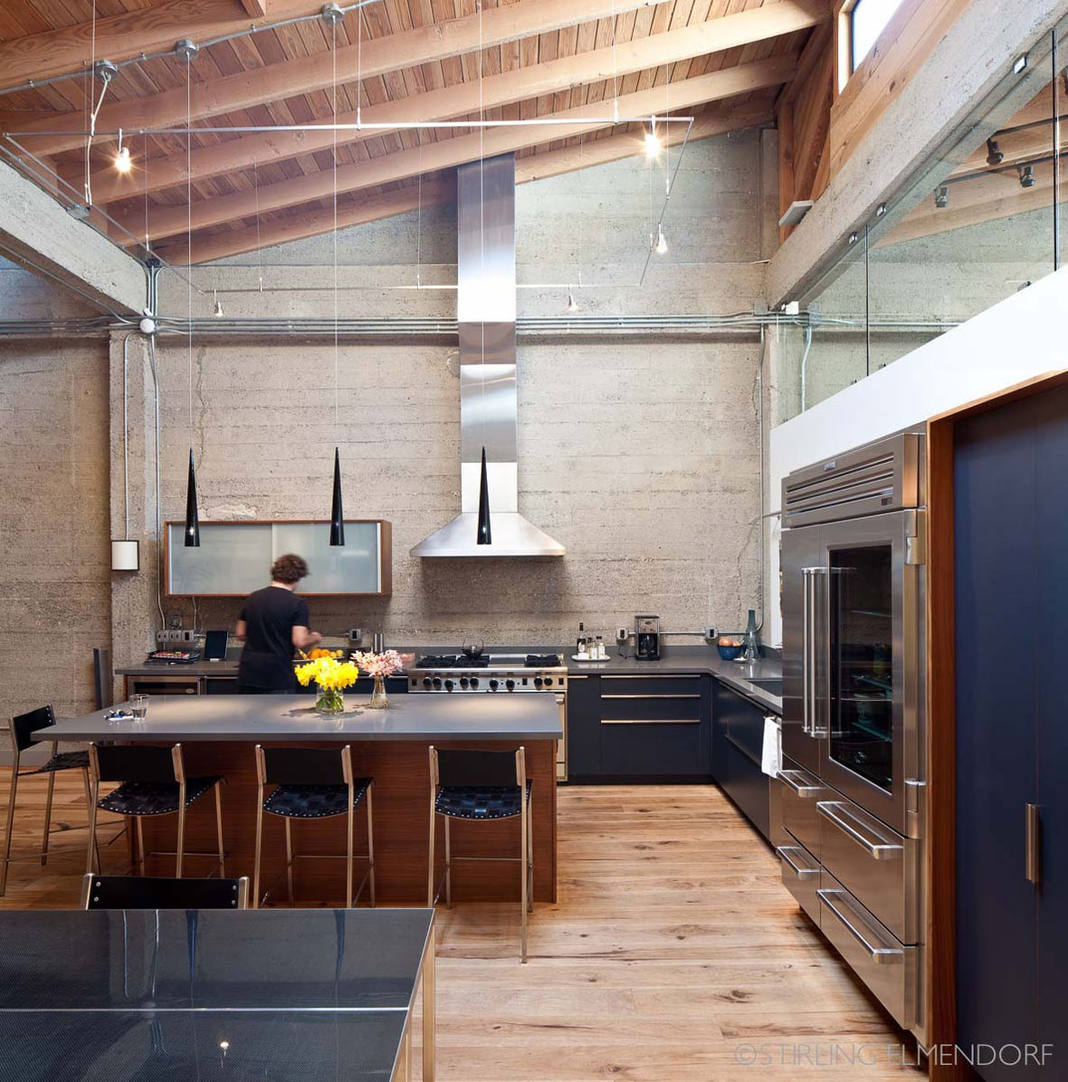 Kitchen Island, SF Loft in San Francisco, California by Wardell + Sagan Projekt