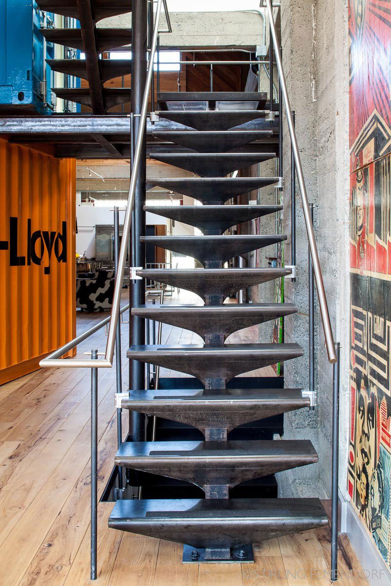 Stairs, SF Loft in San Francisco, California by Wardell + Sagan Projekt