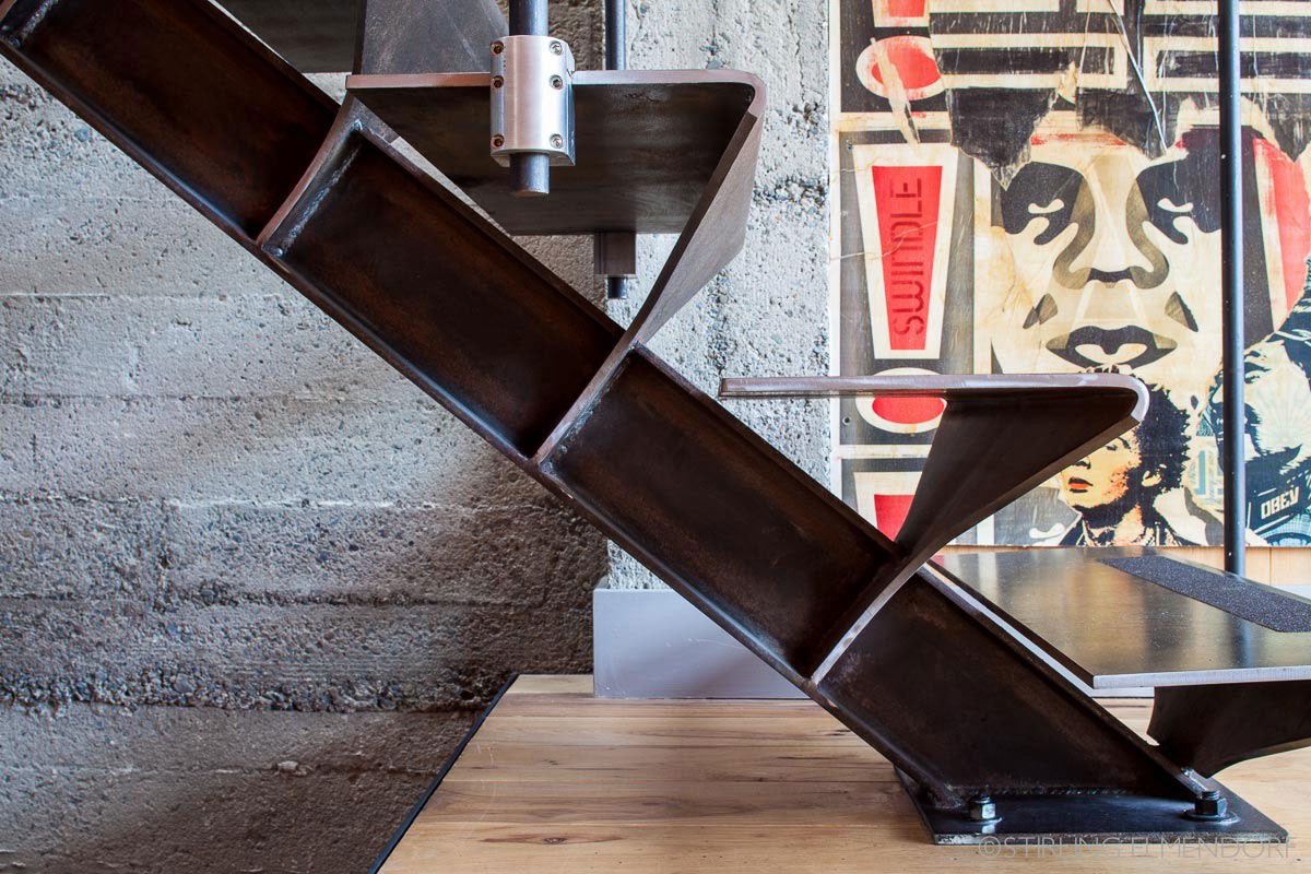 Metal Stairs, SF Loft in San Francisco, California by Wardell + Sagan Projekt