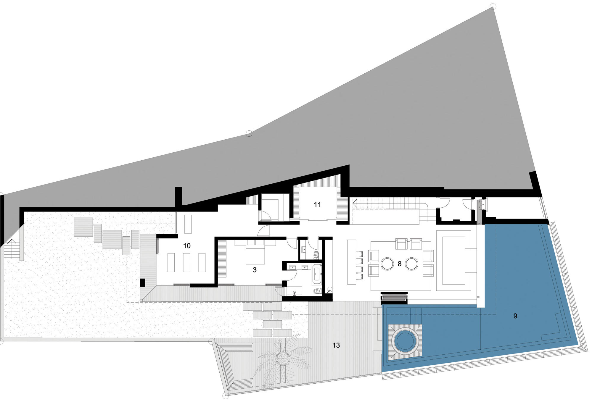 First Floor Plan, St Leon 10 in Cape Town, South Africa by SAOTA and Antoni Associates