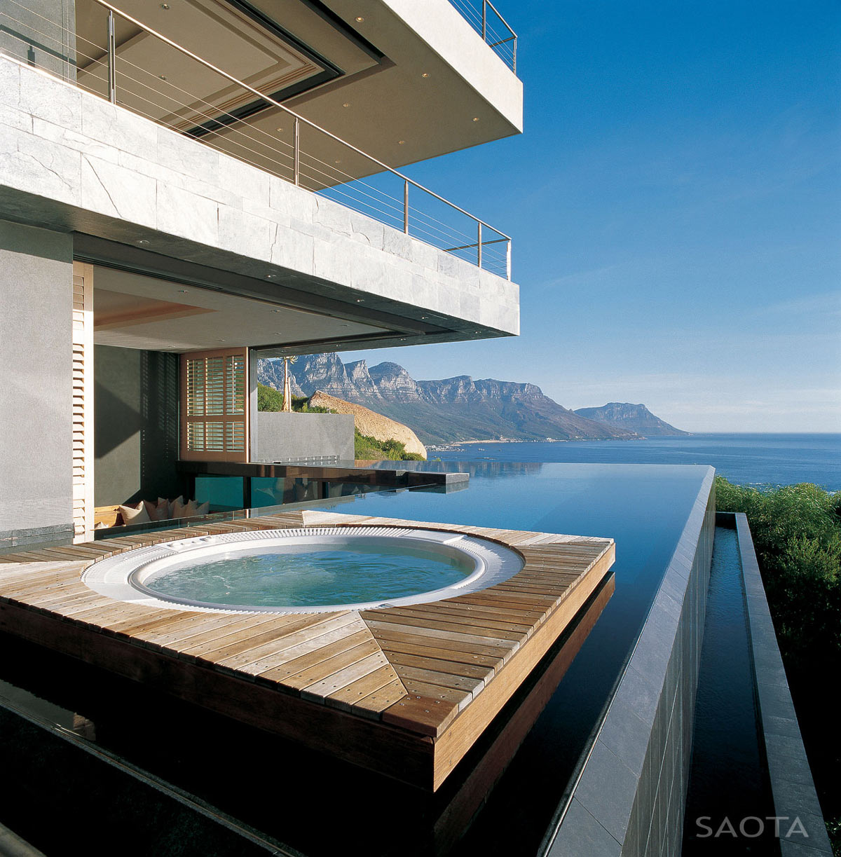 Infinity Pool, Jacuzzi, Ocean Views, St Leon 10 in Cape Town, South Africa by SAOTA and Antoni Associates