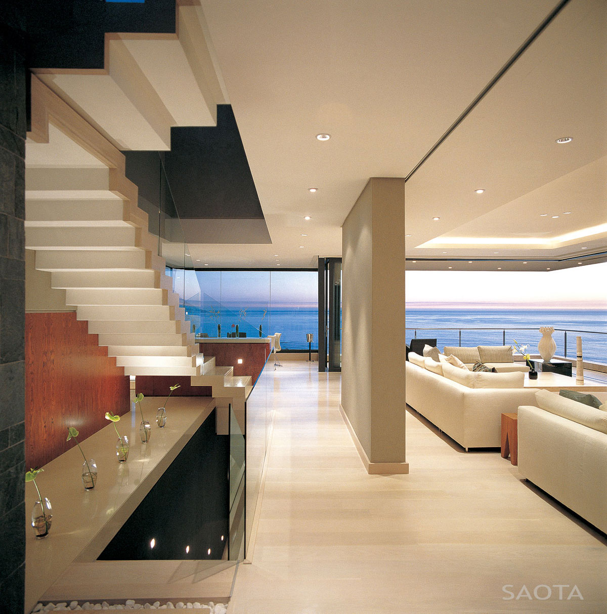 Stairs, Living Space, Ocean Views, St Leon 10 in Cape Town, South Africa by SAOTA and Antoni Associates