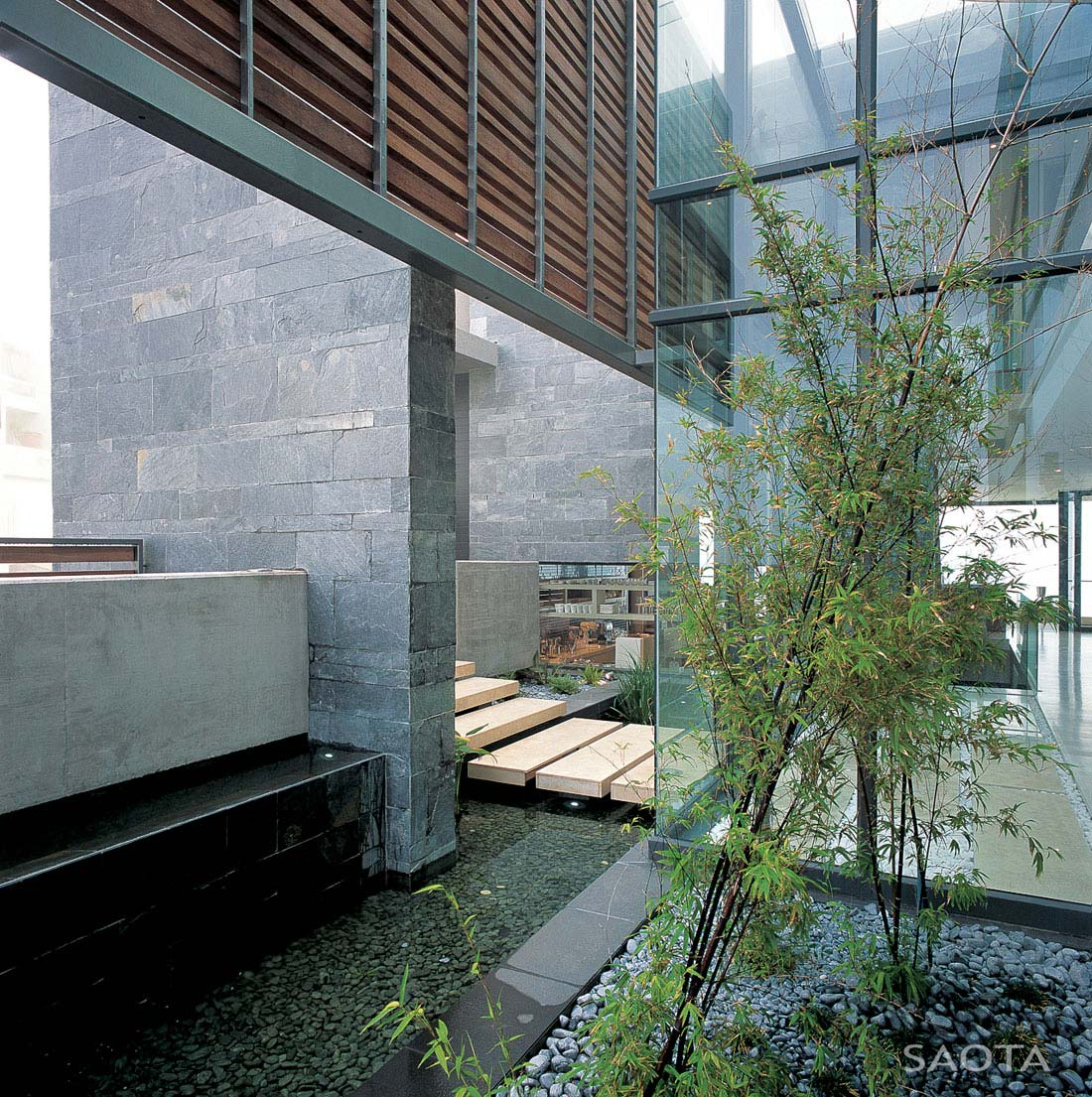 Water Feature, Glass Walls, St Leon 10 in Cape Town, South Africa by SAOTA and Antoni Associates