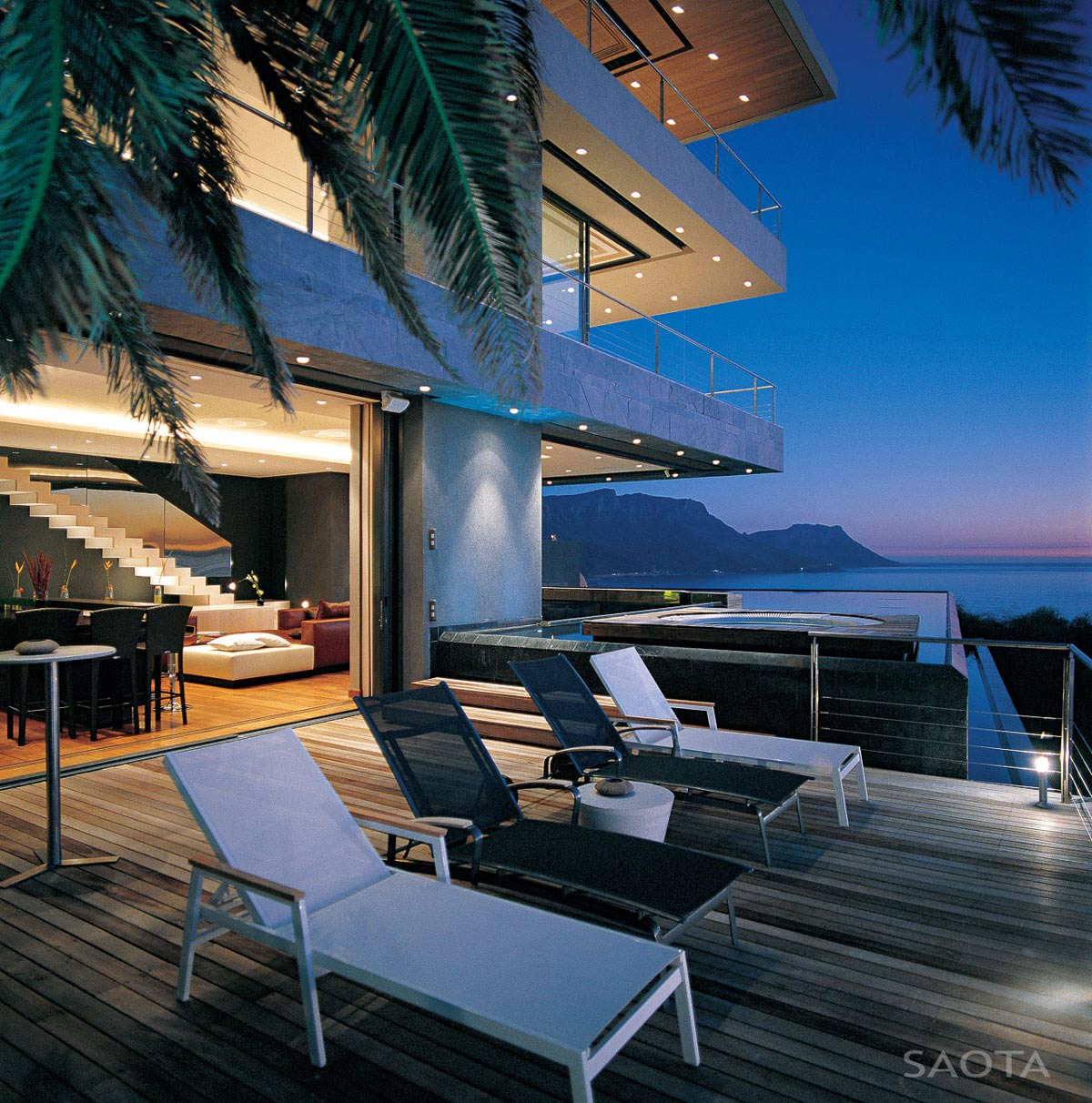 Wooden Deck, Jacuzzi, Pool, Ocean Views, St Leon 10 in Cape Town, South Africa by SAOTA and Antoni Associates