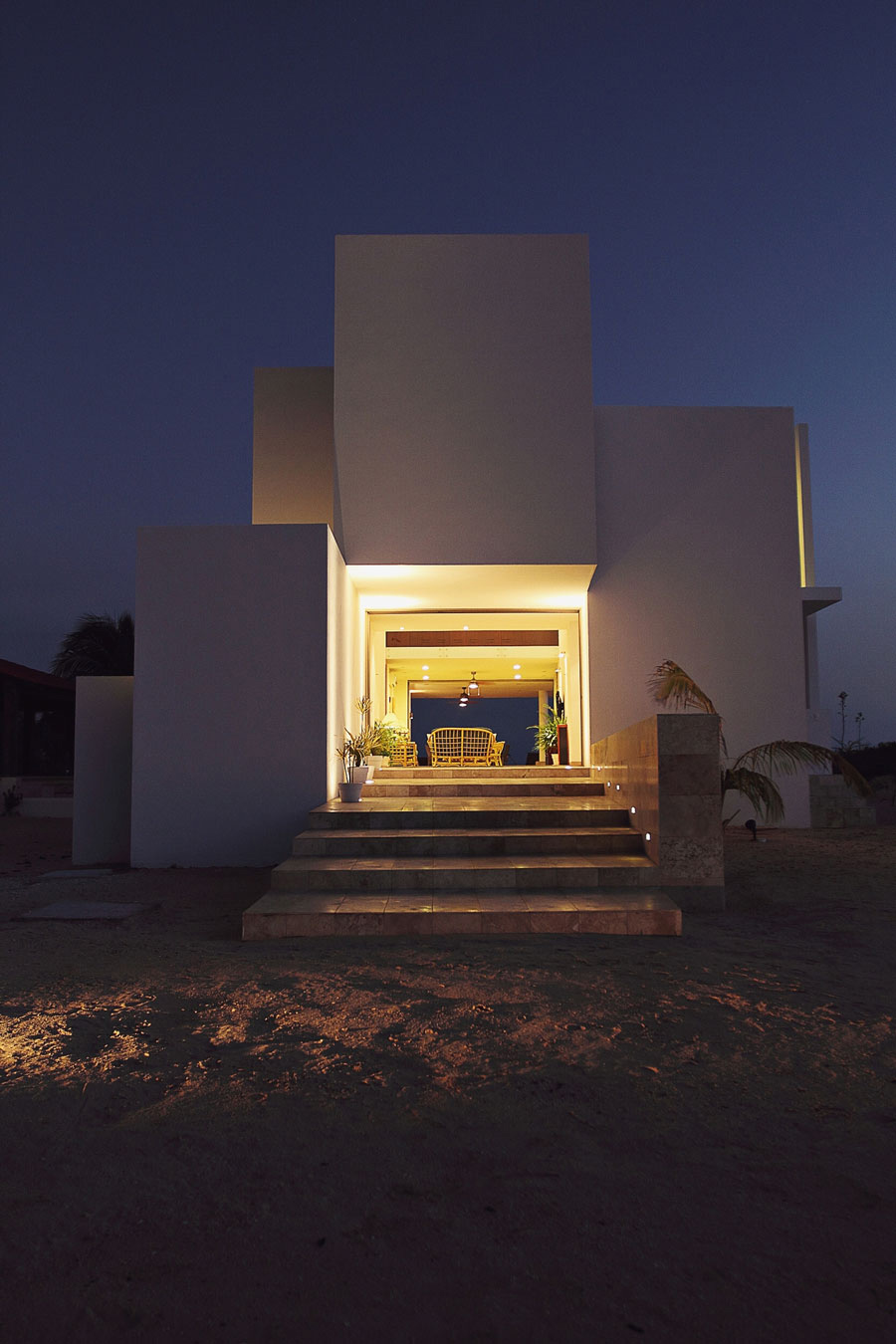 Entrance, Steps, Lighting, Tuunich Kanab in San Bruno, Mexico by Seijo Peon Arquitectos