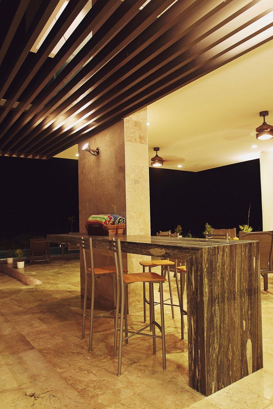 Outdoor Table, Tuunich Kanab in San Bruno, Mexico by Seijo Peon Arquitectos