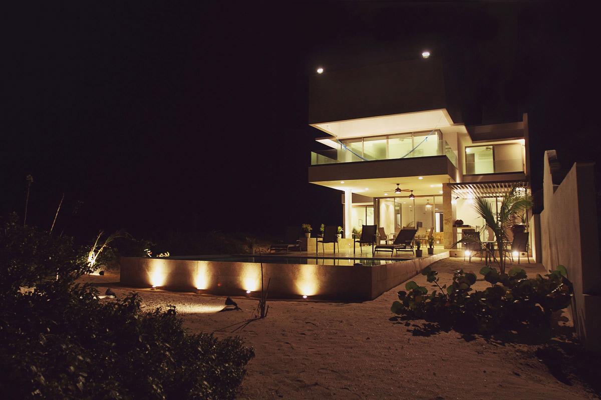 Pool, Evening, Lighting, Tuunich Kanab in San Bruno, Mexico by Seijo Peon Arquitectos