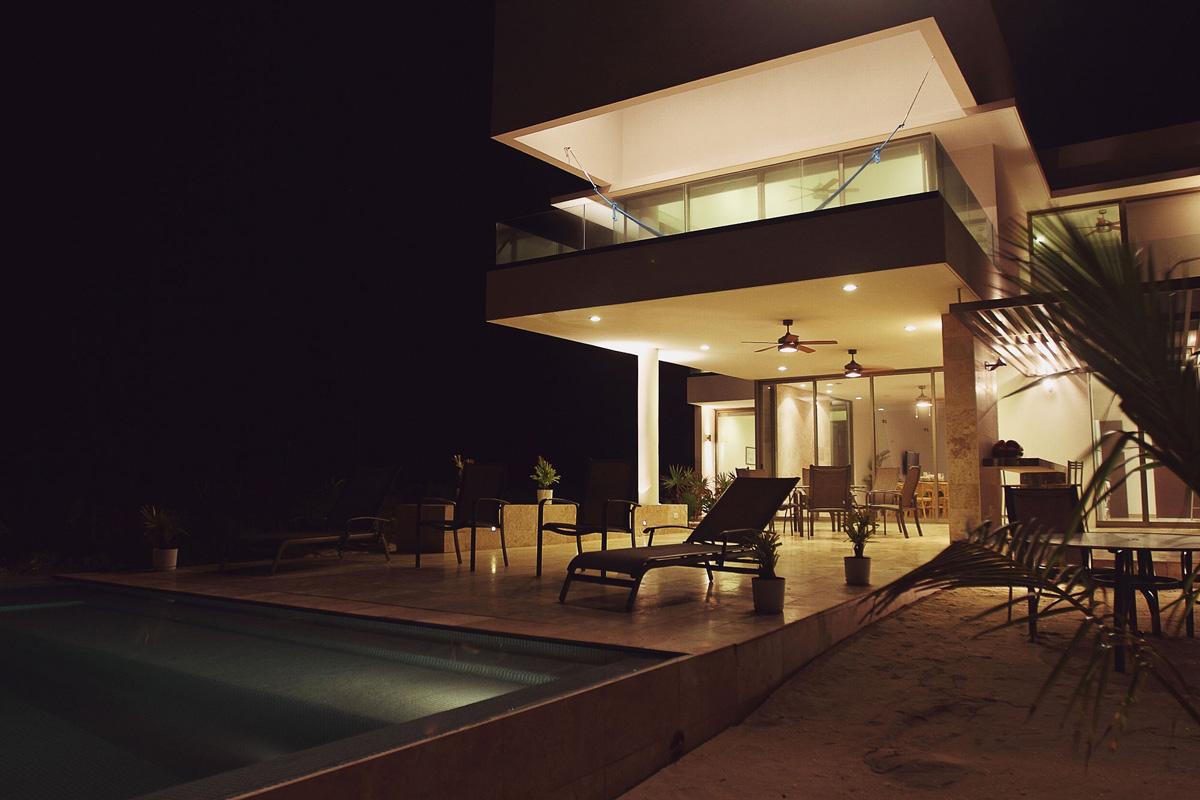 Terrace, Lighting, Pool, Tuunich Kanab in San Bruno, Mexico by Seijo Peon Arquitectos