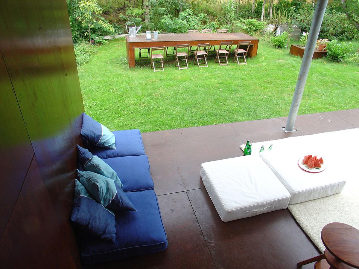 Outdoor Dining, Casa Kolonihagen in Stavanger, Norway by Tommie Wilhelmsen