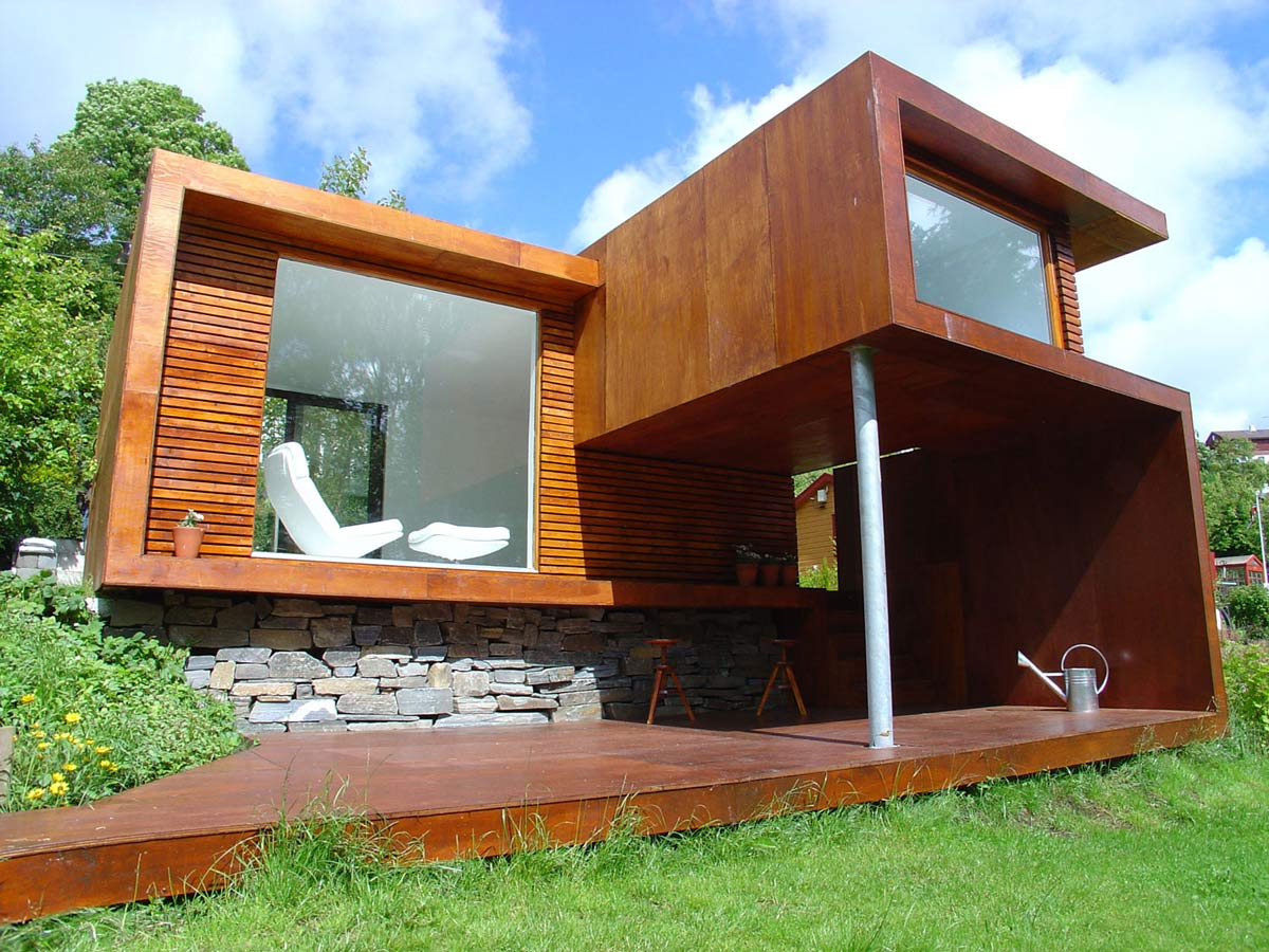 Wooden Deck, Casa Kolonihagen in Stavanger, Norway by Tommie Wilhelmsen