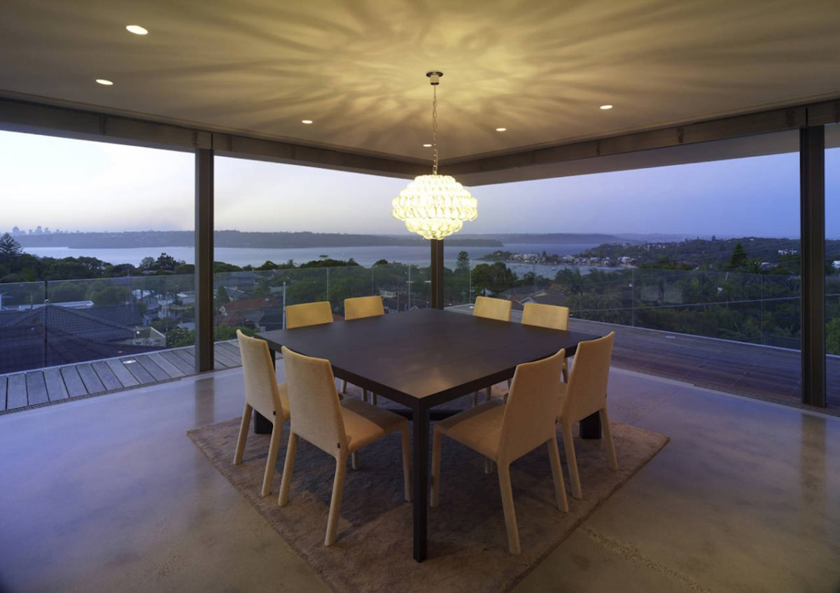 Dining Space, Ocean Views, Vaucluse House in Sydney, Australia by MPR Design Group